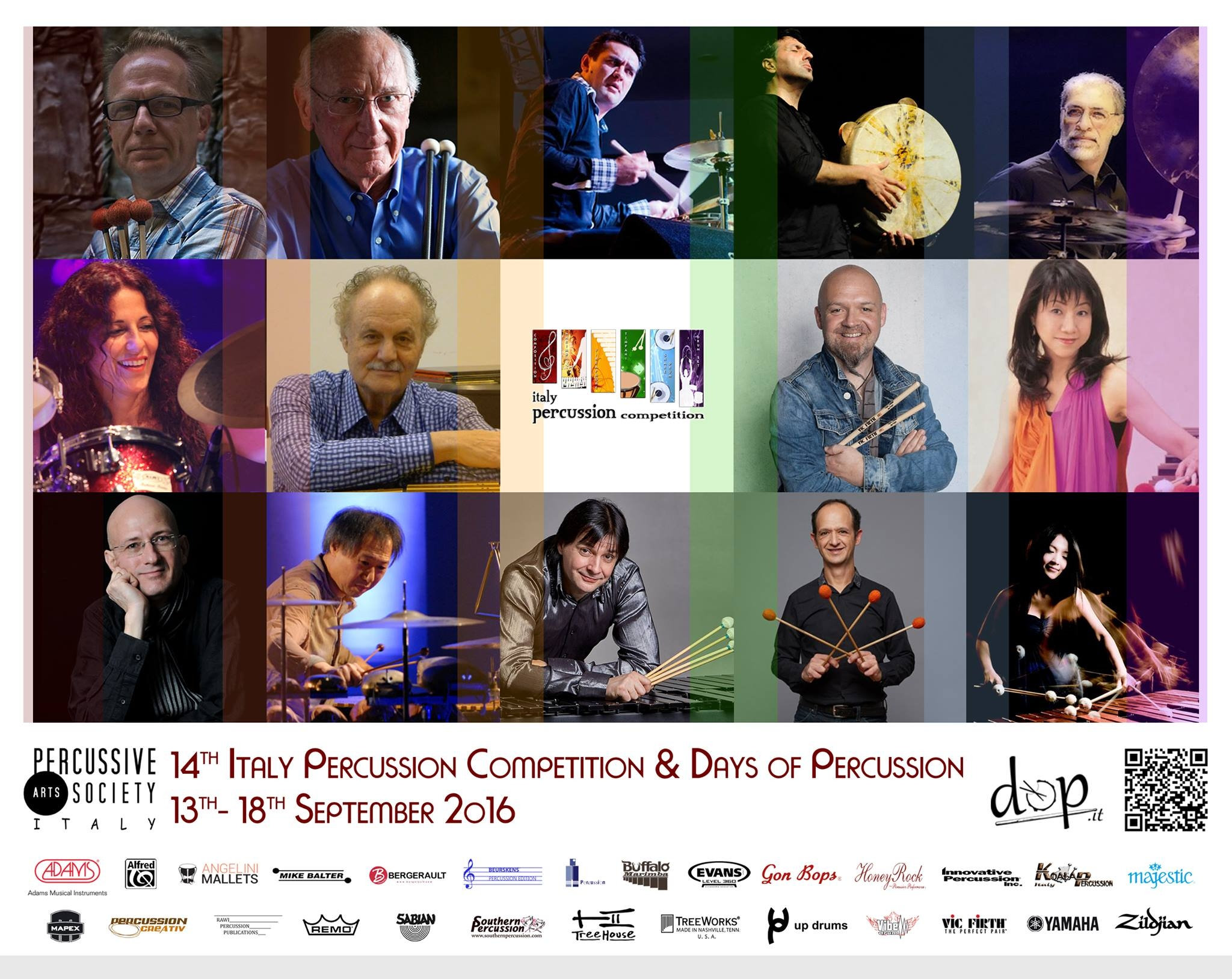 Artists of the 14th edition of Italy Percussion Competition
