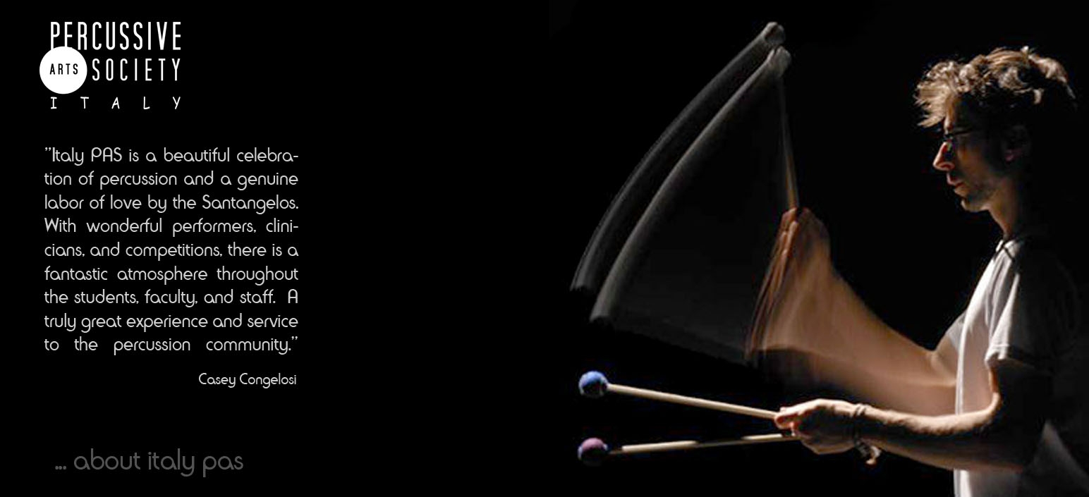 Casey Cangelosi about italy percussion competition