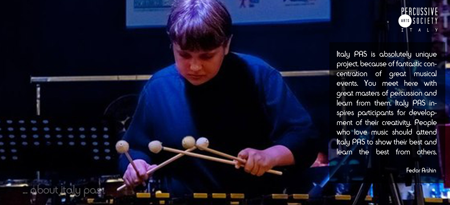 Fedor-Arshin-about-Italy Percussion-Competition and Days of Percussion Italy